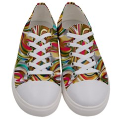 Wallpaper Psychedelic Background Women s Low Top Canvas Sneakers