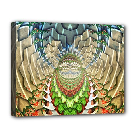 Abstract Fractal Magical Deluxe Canvas 20  X 16  (stretched)