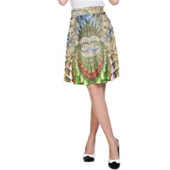 Abstract Fractal Magical A Line Skirt