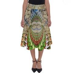 Abstract Fractal Magical Perfect Length Midi Skirt