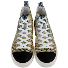 Abstract Fractal Magical Men s Mid Top Canvas Sneakers