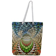 Abstract Fractal Magical Full Print Rope Handle Tote (large)