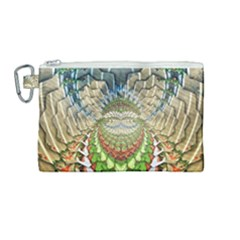Abstract Fractal Magical Canvas Cosmetic Bag (medium)