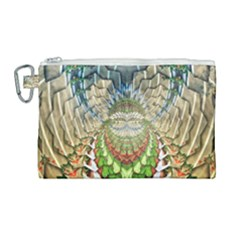 Abstract Fractal Magical Canvas Cosmetic Bag (large)
