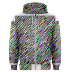 Waves Background Wallpaper Stripes Men s Zipper Hoodie
