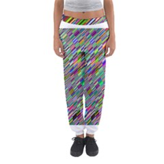 Waves Background Wallpaper Stripes Women s Jogger Sweatpants
