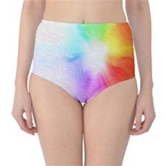 Psychedelic Background Wallpaper Classic High Waist Bikini Bottoms