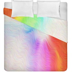 Psychedelic Background Wallpaper Duvet Cover Double Side (king Size)