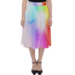 Psychedelic Background Wallpaper Classic Midi Skirt