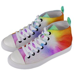 Psychedelic Background Wallpaper Women s Mid Top Canvas Sneakers by Samandel