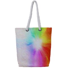 Psychedelic Background Wallpaper Full Print Rope Handle Tote (small) by Samandel