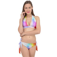 Psychedelic Background Wallpaper Tie It Up Bikini Set