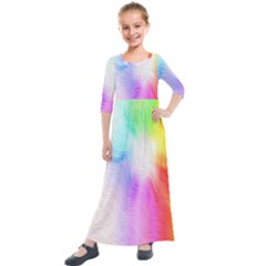Psychedelic Background Wallpaper Kids  Quarter Sleeve Maxi Dress