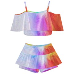 Psychedelic Background Wallpaper Kids  Off Shoulder Skirt Bikini