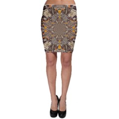 Abstract Digital Geometric Pattern Bodycon Skirt