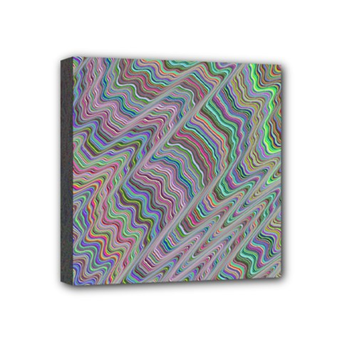Psychedelic Background Mini Canvas 4  X 4  (stretched)