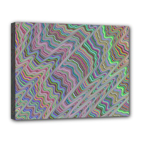 Psychedelic Background Canvas 14  X 11  (stretched)