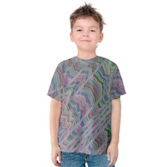 Psychedelic Background Kids  Cotton Tee