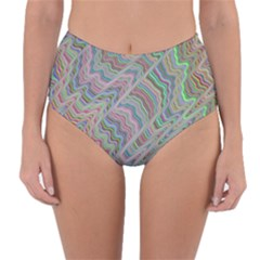 Psychedelic Background Reversible High Waist Bikini Bottoms