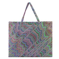 Psychedelic Background Zipper Large Tote Bag
