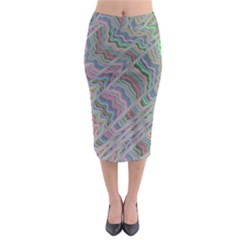 Psychedelic Background Midi Pencil Skirt