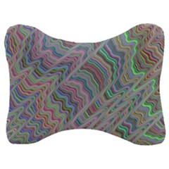 Psychedelic Background Velour Seat Head Rest Cushion