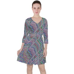 Psychedelic Background Ruffle Dress
