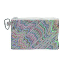 Psychedelic Background Canvas Cosmetic Bag (medium)