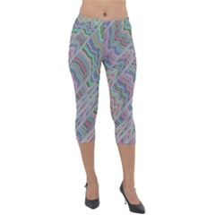 Psychedelic Background Lightweight Velour Capri Leggings