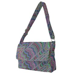 Psychedelic Background Full Print Messenger Bag