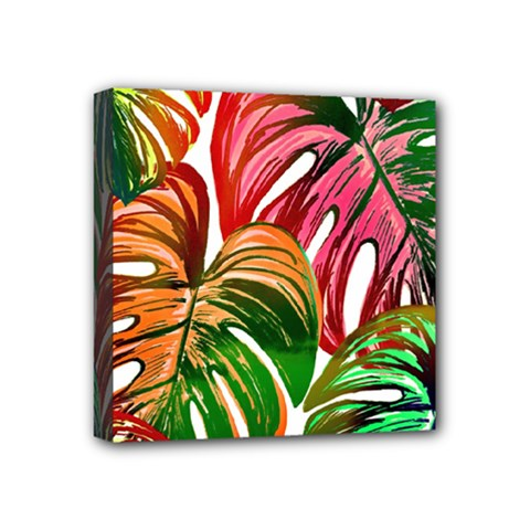 Pretty Leaves D Mini Canvas 4  X 4  (stretched) by MoreColorsinLife