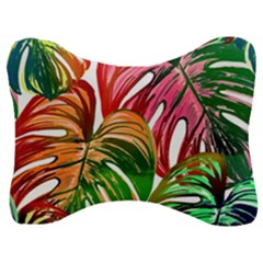 Pretty Leaves D Velour Seat Head Rest Cushion