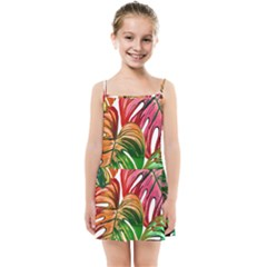 Pretty Leaves D Kids Summer Sun Dress by MoreColorsinLife