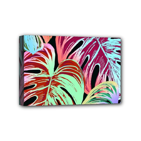 Pretty Leaves A Mini Canvas 6  X 4  (stretched) by MoreColorsinLife