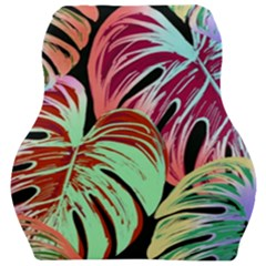 Pretty Leaves A Car Seat Velour Cushion  by MoreColorsinLife