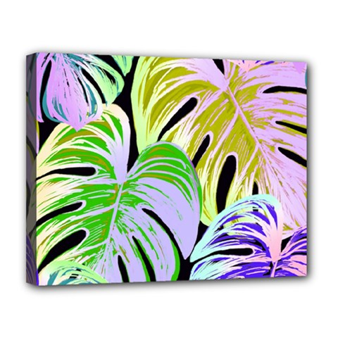 Pretty Leaves C Canvas 14  X 11  (stretched) by MoreColorsinLife
