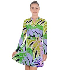 Pretty Leaves C Long Sleeve Panel Dress by MoreColorsinLife