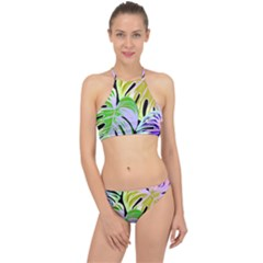 Pretty Leaves C Racer Front Bikini Set by MoreColorsinLife