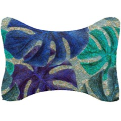 Pretty Leaves 6 Seat Head Rest Cushion by MoreColorsinLife
