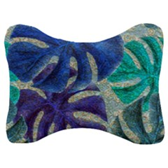 Pretty Leaves 6 Velour Seat Head Rest Cushion by MoreColorsinLife
