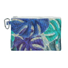 Pretty Leaves 6 Canvas Cosmetic Bag (large)