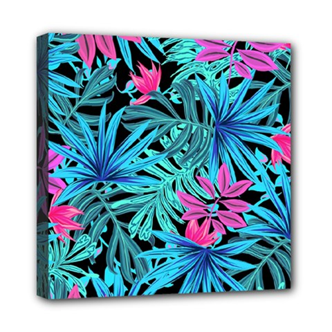 Pretty Leaves 4a Mini Canvas 8  X 8  (stretched) by MoreColorsinLife