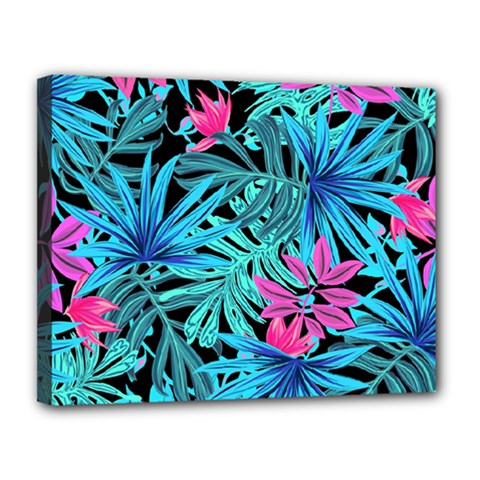 Pretty Leaves 4a Canvas 14  X 11  (stretched) by MoreColorsinLife
