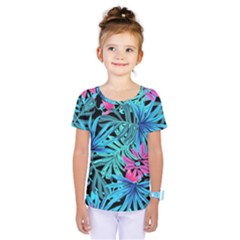 Pretty Leaves 4a Kids  One Piece Tee by MoreColorsinLife
