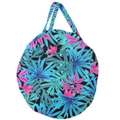 Pretty Leaves 4a Giant Round Zipper Tote
