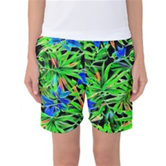 Pretty Leaves 4c Women s Basketball Shorts by MoreColorsinLife