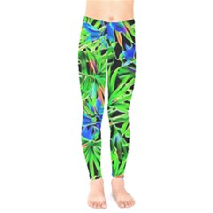 Pretty Leaves 4c Kids  Legging by MoreColorsinLife
