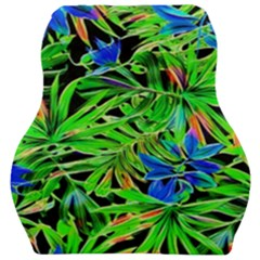 Pretty Leaves 4c Car Seat Velour Cushion  by MoreColorsinLife