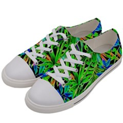 Pretty Leaves 4c Women s Low Top Canvas Sneakers by MoreColorsinLife
