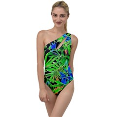 Pretty Leaves 4c To One Side Swimsuit by MoreColorsinLife